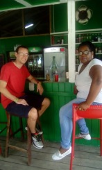 Julie and I spending an afternoon at a local rum shop