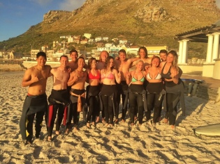 One morning before volunteering, the volunteers at Rec House went sunrise surfing at the local beach in Muizenberg. Many of the volunteers, including Don and Kevin were a part of the IVHQ South Africa surf program, while I served in the local schools.